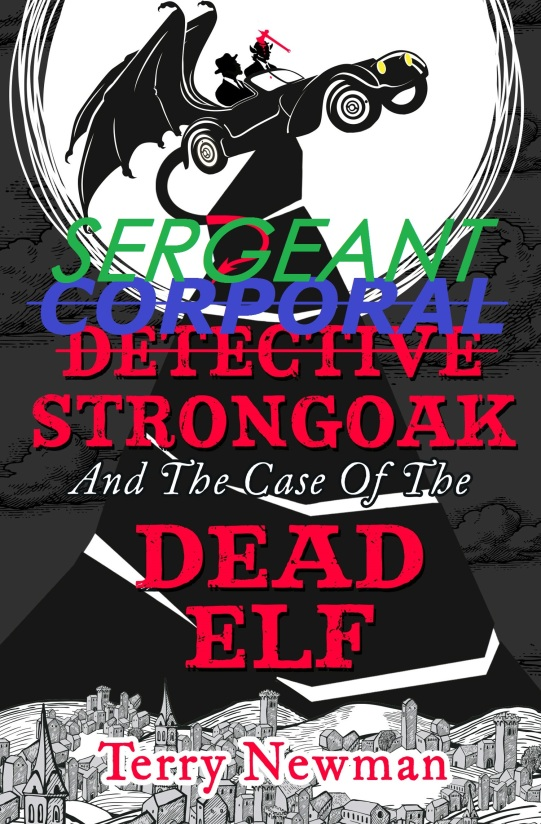 Detective Strongoak book cover joke 2