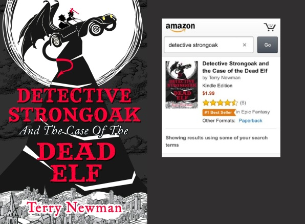 Detective Strongoak book cover with banner
